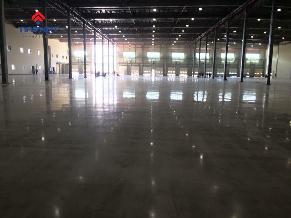 Mài bóng bê tông nhà xưởng công ty Tân Huy Hoàng 4