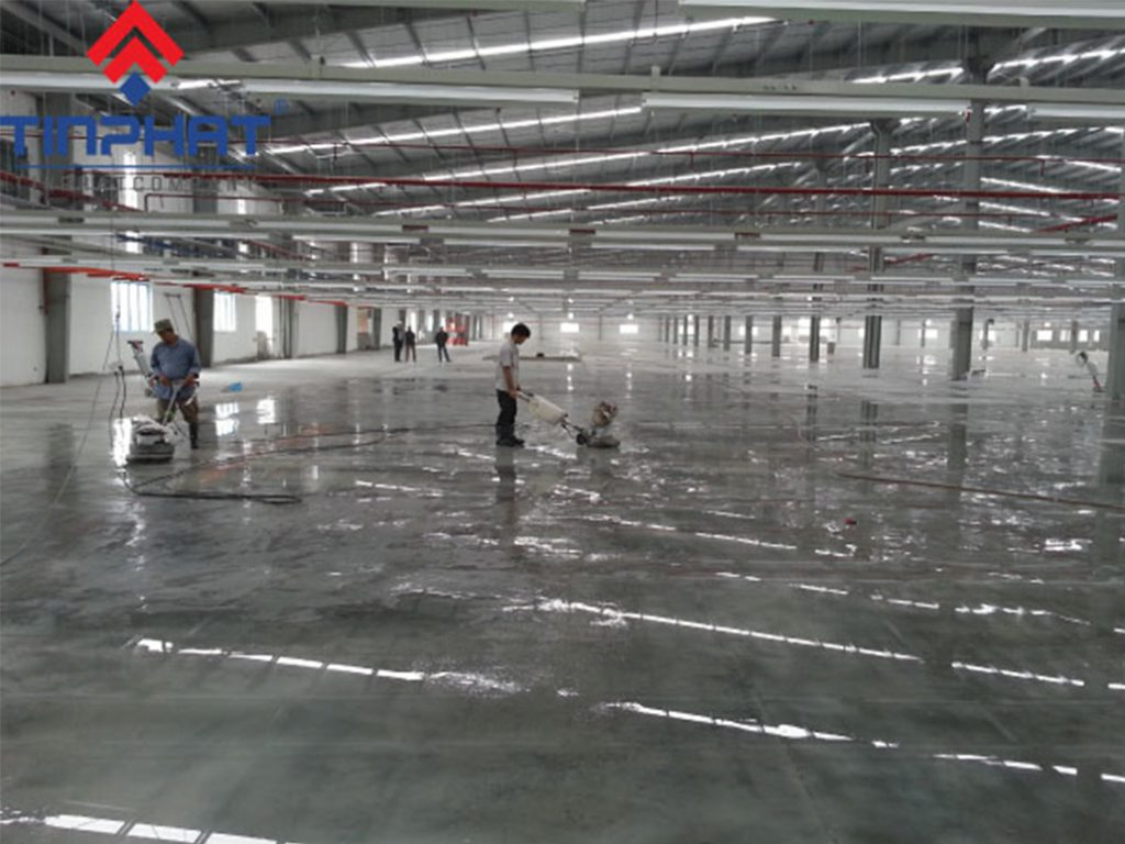 Thi công mài bóng nhà máy Samsung – Bắc Ninh